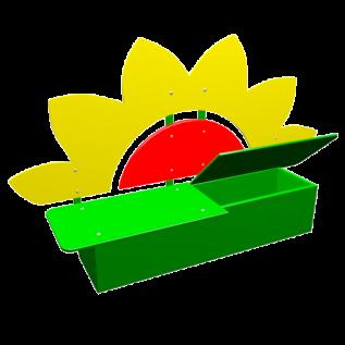 СС-15  Скамейка Цветочек с ящиком