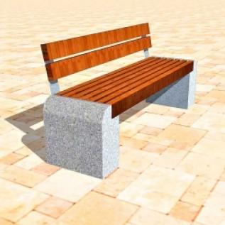Скамейка на ж/б ножках МАФ 01.22