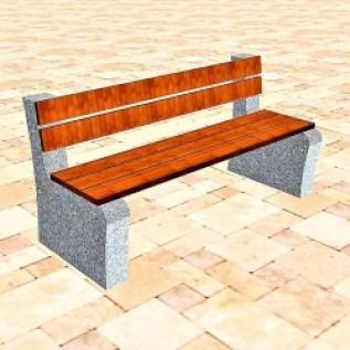 Скамейка на ж/б ножках МАФ 01.23