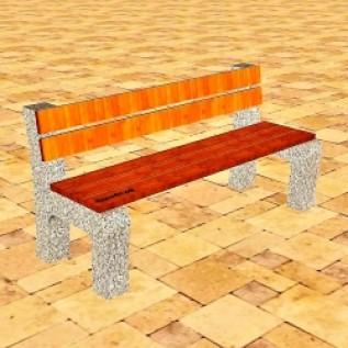 Скамейка на ж/б ножках МАФ 01.24