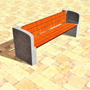 Скамейка на ж/б ножках МАФ 01.26