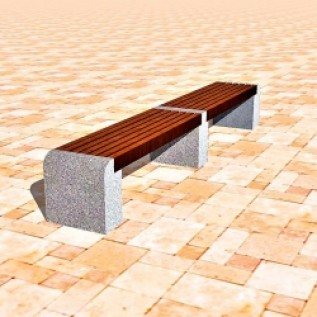Скамейка на ж/б ножках МАФ 01.06