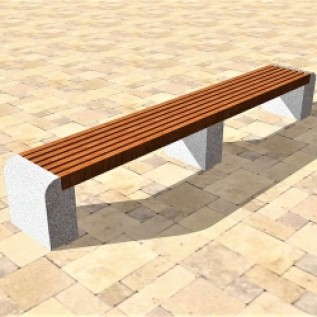 Скамейка на ж/б ножках МАФ 01.07