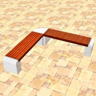 Скамейка на ж/б ножках МАФ 01.10