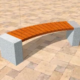Скамейка на ж/б ножках МАФ 01.05
