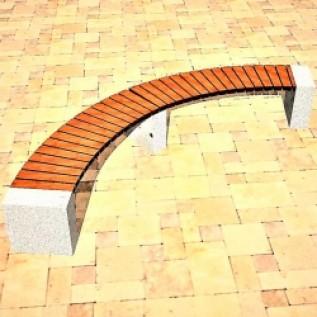 Скамейка на ж/б ножках МАФ 01.08