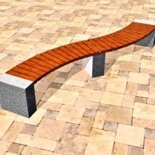 Скамейка на ж/б ножках МАФ 01.09