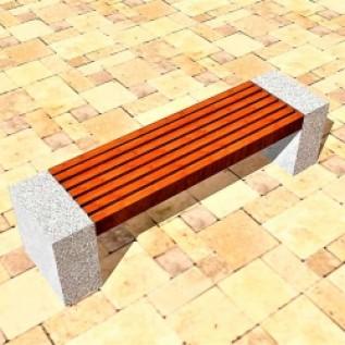 Скамейка на ж/б ножках МАФ 01.03