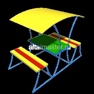 СН-3  Столик с лавочками под навесом