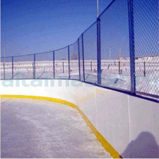 Хоккейная коробка из стеклопластика