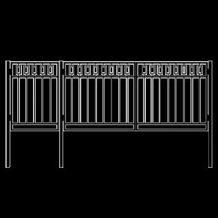 Ворота с калиткой 4