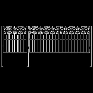 Ворота с калиткой 8
